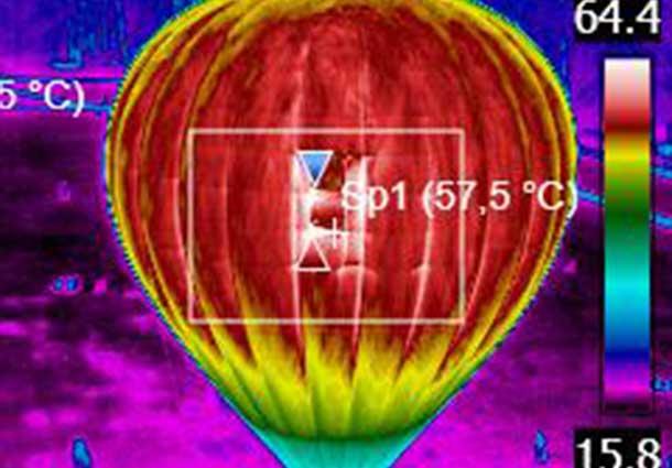 Oro baliono termovizija (Air balloon thermovision)
