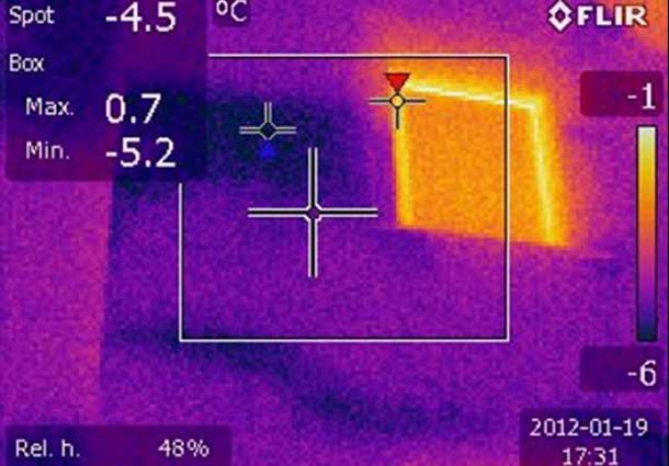 Termoizoliacijos nevientisumas (Unevenness of thermal insulation)
