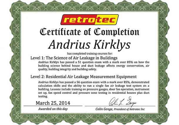 Certificate of completion 2014