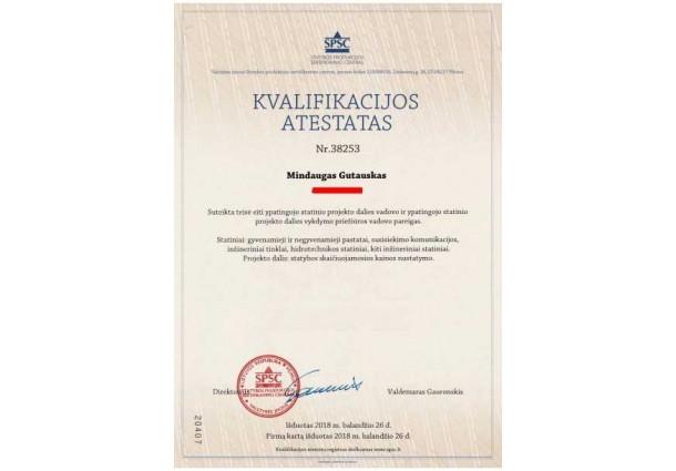 Kvalifikacijos atestatas 2018